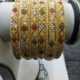 Women's Gold Kangan set